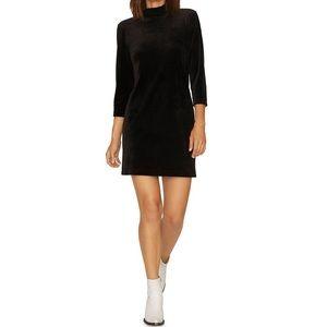 Sanctuary Black Faux Velvet Dress